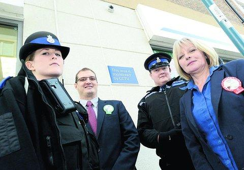 PCSO Ashlee John, Will Smith, PCSO Dominic Tonge and Sue Dillworth