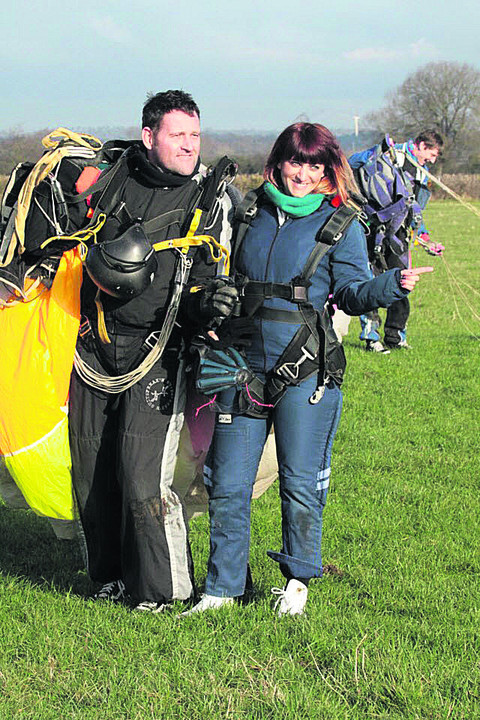 Katie Bond at the skydive