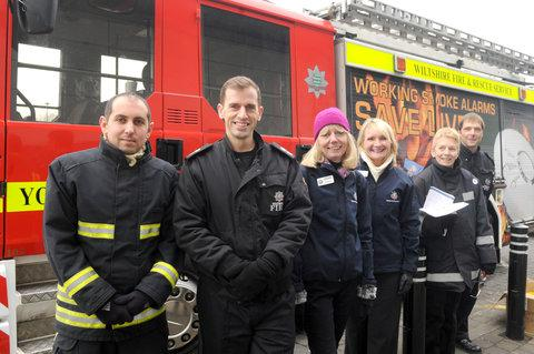 From left, Chris Davis, Dave Adamson, Helen Mueller, Denise Holmes, Dotty Avenell and station manager Kit Watson