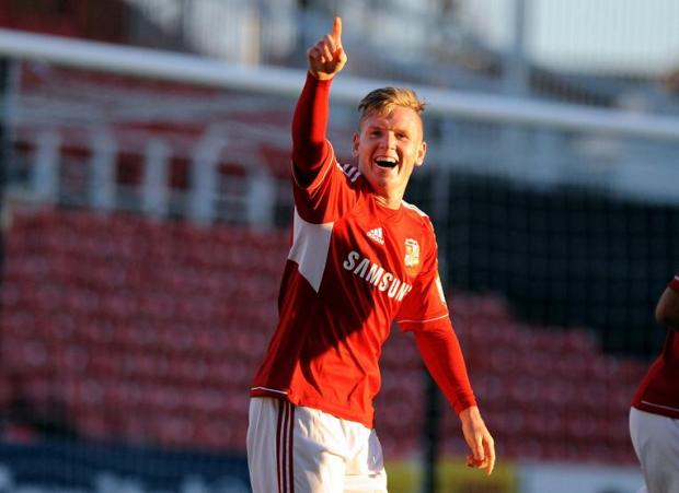Matt Ritchie celebrates his goal against Doncaster