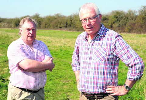 Chris Birdsall with Norman Edwards, the chairman of Pentylands Preservation Group who opposed a housing development at Pentylands in Highworth; Mr Birdsall says the solar farm is a good idea