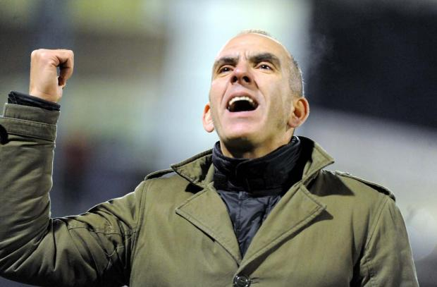 THANKS: Paolo Di Canio gestures after victory at Oldham