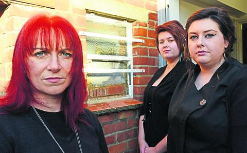 Samantha Scott, Hayley Milsom and Shanise Rogers of Diva Salon, which was broken into