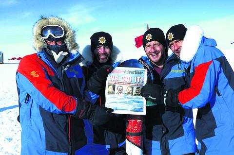 David Hempleman-Adams and his team at the South Pole