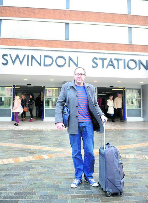 Ian McGuinness at Swindon railway station