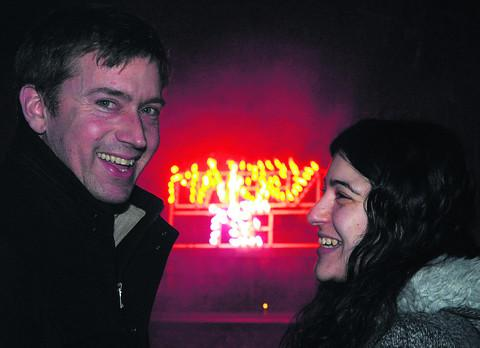 John Spooner proposes to his girlfriend Elena Costa at the Town Gardens Bowl on New Year's Eve