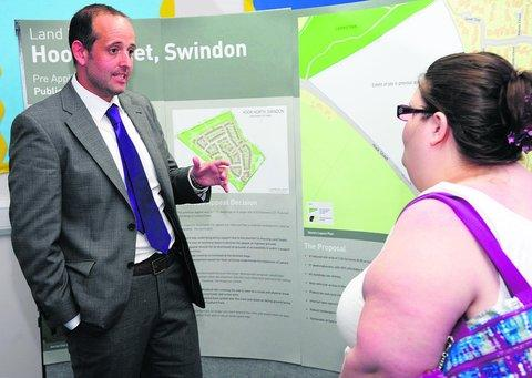 The Hook Street public consultation at Lydiard Park Academy last July
