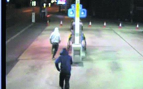 CCTV footage of the raid at the Kingshill Road garage in March last year