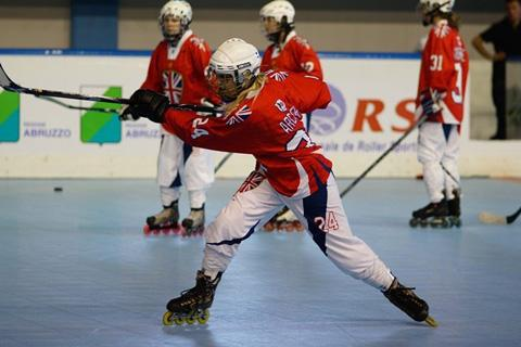 Swindon Flames' star Hannah Archer in action for Great Britain