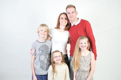 Natasha Macdivitt with husband Danny and children Joshua, Hayleigh and Katie