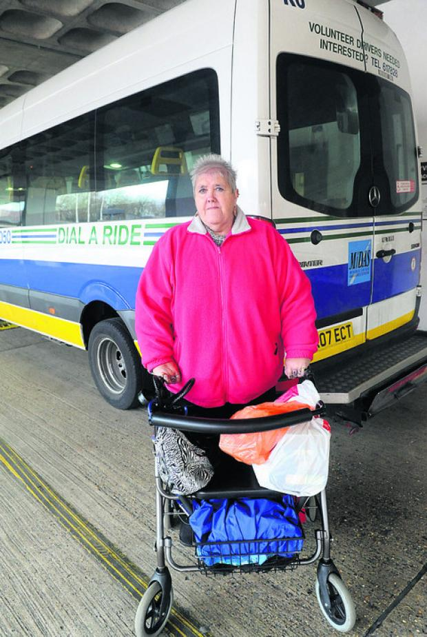 Bridget Coady, who relies on Dial A Ride daily to do her shopping