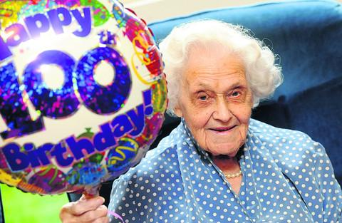 Jessie Taylor celebrates her 100th birthday