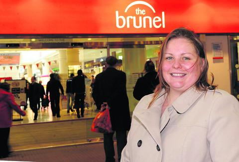 Emma Faramarzi, chairman of Swindon Federation of Small Businesses, outside the Brunel