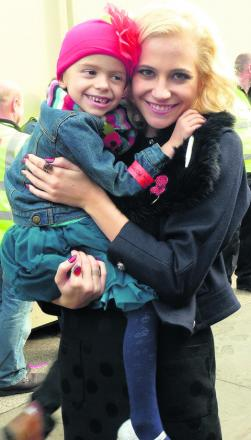 Pixie Lott with five-year-old Bella Restuccia