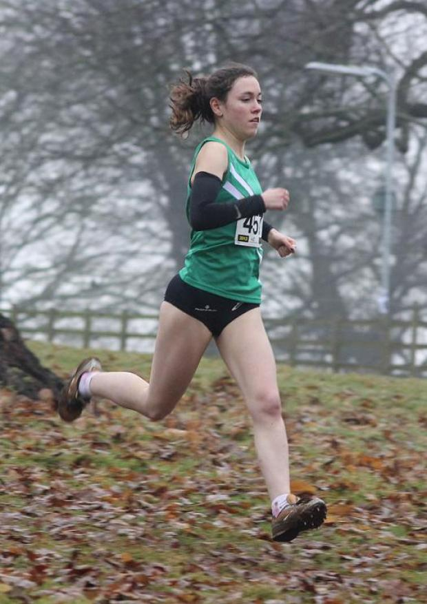 Lillie Bellamy in action at Bicton College in the South West Inter Counties Championships