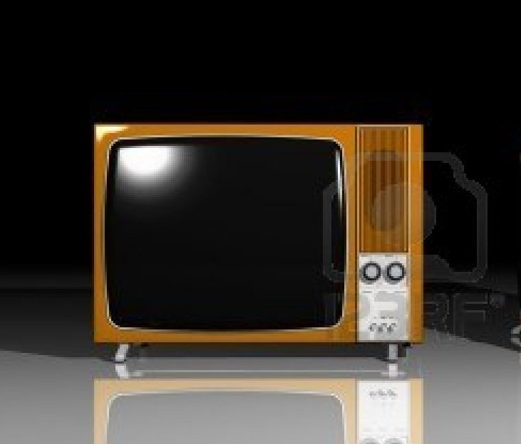 Families still watching black and white TV