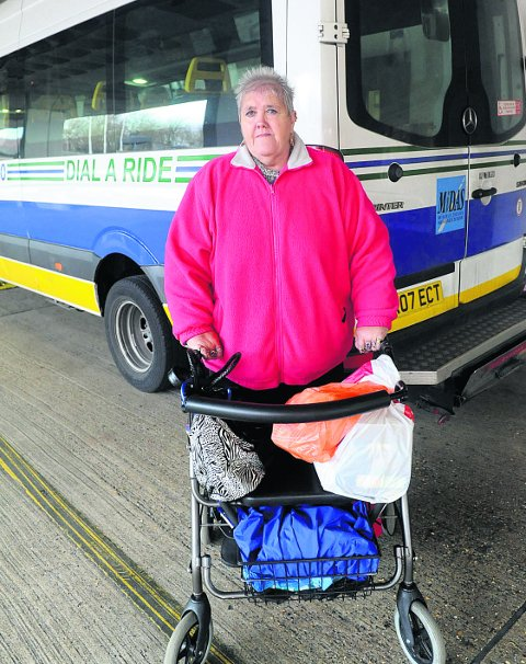 Bridget Coady uses the Dial-A-Ride service, which is one of those facing funding cuts