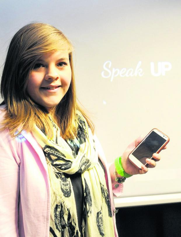 Student Sophie Thorne launches her  anti cyber bullying film, Speak Up