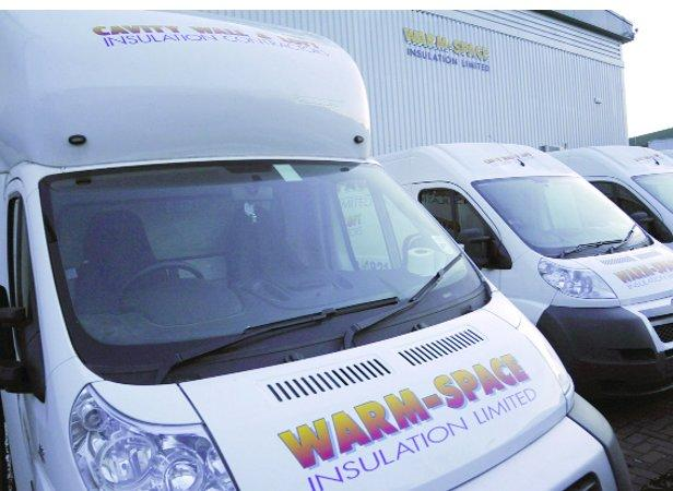 Uncertain future: empty vans parked outside Warm-Space at Rushy Platt yesterday