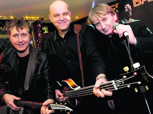 BACK IN THE RIFFS BAR Ludwig Beatles Garry Illsley, Mike York and Pete Townsend get ready to reunite, Picture: Dave Ccox
