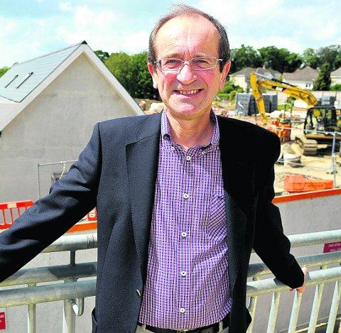 Building work completed Coun  Brian Mattock is pictured at the new Croft School
