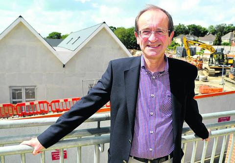 Coun  Brian Mattock is pictured at the new Croft School