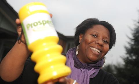 Gifty Tawiah, who co-ordinates the box collections for Prospect Hospice