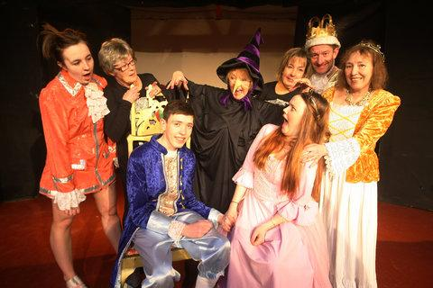 Tiverton Players rehearse for their production of Sleeping Beauty