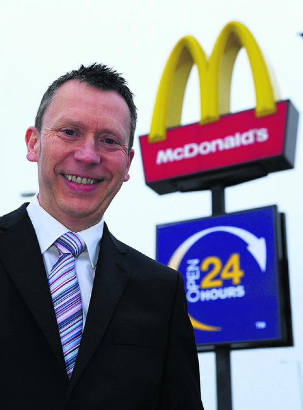Paul Booth, owner of five Swindon McDonald's