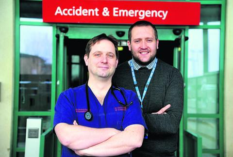 Swindon Advertiser: Dr Stephen Haig and Leighton Day