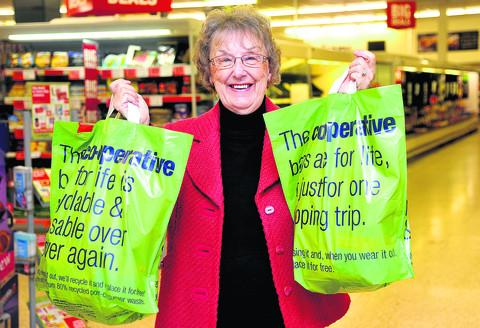 Competition winner Margaret Pippard at the Hyde Road Co-op