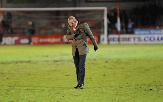 ISOLATION: Paolo Di Canio after Saturday's draw at Crawley