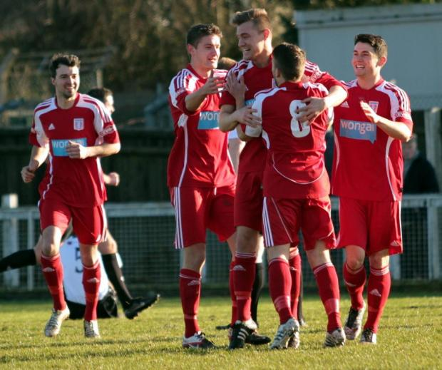 WINNER: Jamie Proctor celebrates his goal