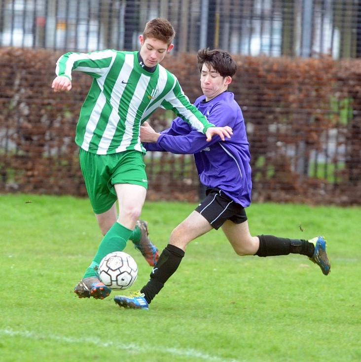 Action from Liden against Abbey Meads in the North Wilts League