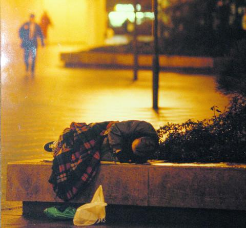 One of Swindon's rising number of people sleeping rough in the town centre