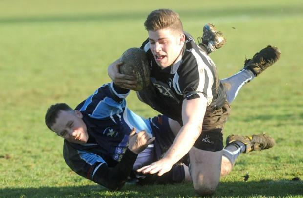 Action from Wootton Bassett's clash with Supermarine