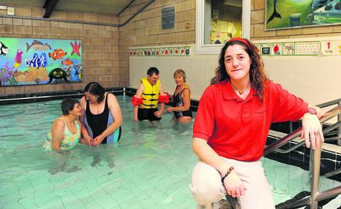 Pool assistant Hannah Aleti at Thamesdown Hydrotherapy Pool, which has reopened