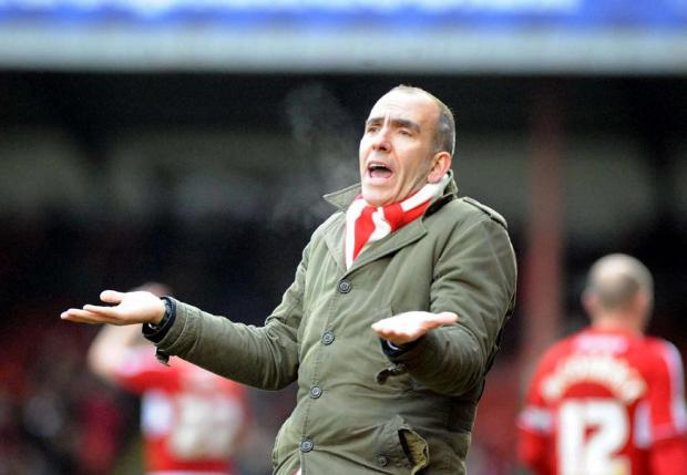 HARD TO TAKE: Paolo Di Canio shrugs while watching his team draw with lowly Hartlepool