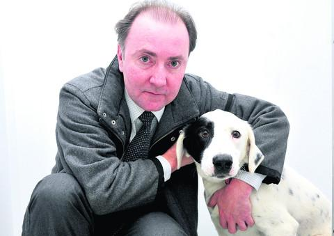 Tony Holland with his dog Doug