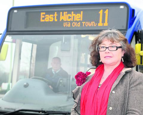 Coun Rochelle Russell is having  a meeting with Paul Jenkins, of Thamesdown Transport, to discuss changes to the No 11 bus route from the Orbital Centre