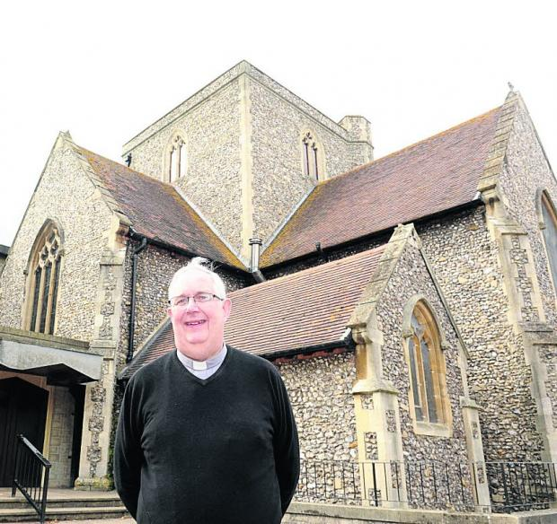 Canon John Cunningham, parish priest of Holy Rood Church