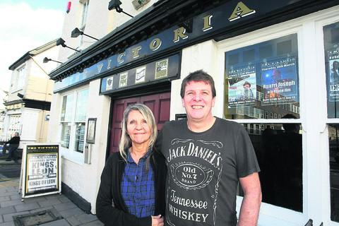 Swindon Advertiser: David Young and Anna Sprawson are selling The Victoria Pub in Old Town