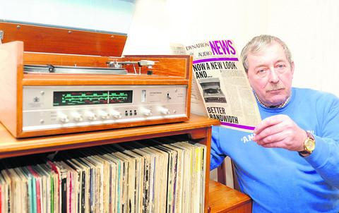Swindon Advertiser: Fergie Hewer with his Dynatron Stereo from Duck, Son and Pinker
