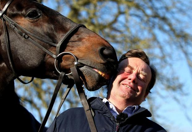 Lambourn trainer Nicky Henderson with Sprinter Sacre
