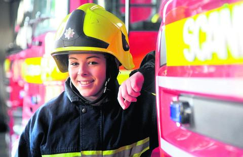 Lucy Saunders has become a retained firefighter two years after being on a Salamander course