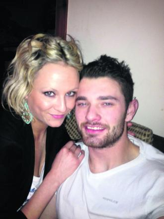 Ben Bowen, who was killed in a motorcycle accident last week near his home in Haverfordwest, pictured with girlfriend Lisa Canton