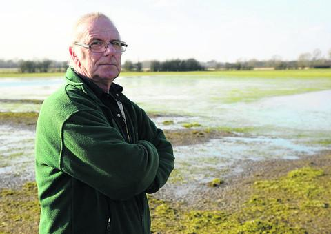 Farmer George Nash is still fighting against the flood plains outside Cricklade that still haven't cleared for three months