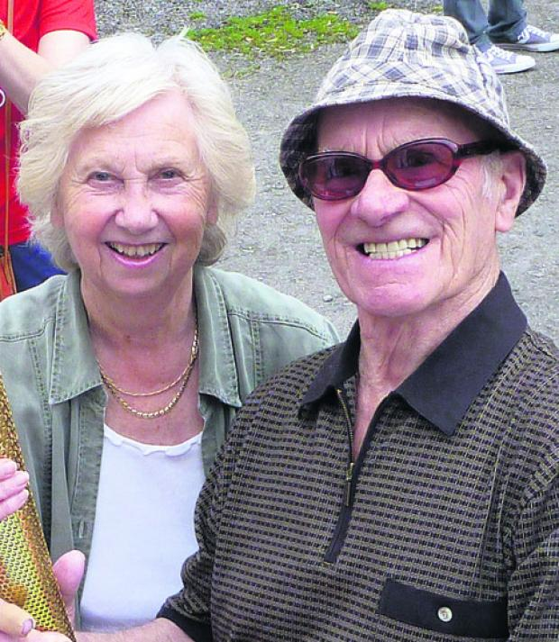 Swindon Advertiser: Tony Wooster with his wife Kath