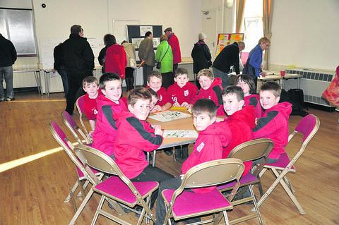 Schoolchildren who were invited to the public consultation on the potential Highworth Sporting Hub development