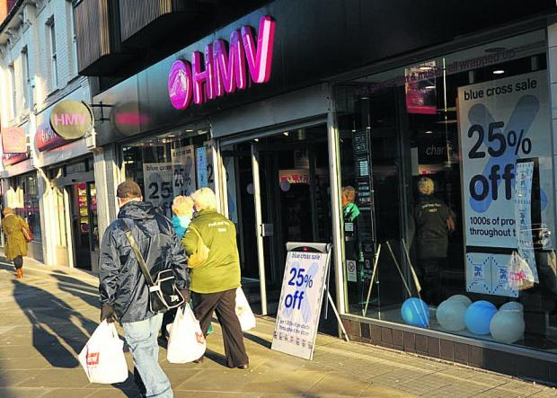 CLOSING HMV in Regent Street, Swindon